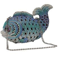 Blue Fish Clutch With Swarovski Element Crystals Photo