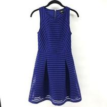 Blue Fit and Flare Mossimo Dress Size Xs Photo