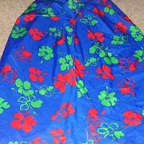 Blue Floral Sarong Cover Up Beach Pool Swim Skirt Wrap Photo
