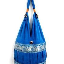 Blue Gift Hobo Lady Yaam Sling Shoulder Bag Gypsy Purse New Thai Free Easy Life Photo
