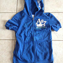 Blue Girls Aeropostale Hoodie Zippered Sweatshirt Sz Medium. Nice Photo