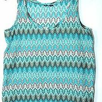 Blue Green Turquoise Ladies Top Vest Size S h&m Party Casual Photo