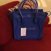 Blue Handbag With Celine Logo Photo