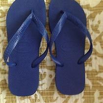 Blue Havaianas Size 6 Photo