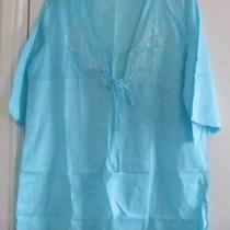 Blue Kaftan Dress Large by Avon Photo