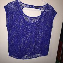 Blue Lace Shirt From Express Size Xs Photo