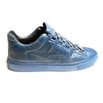 Blue Leather Balenciaga Arena Low Top Sneakers Size 43 Eu Photo