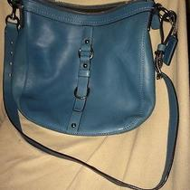 Blue Leather Coach Purse Photo