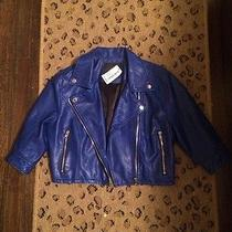 Blue Leather Jacket Vegan Leather Blank Nyc Photo