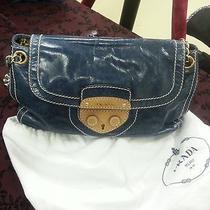 Blue Leather Prada Handbag Photo