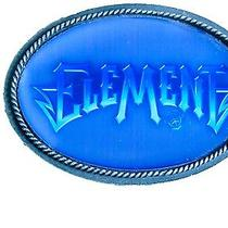 Blue Lightening Element Oval Metal Belt Buckle Casual Celestial New Photo