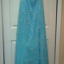 Blue Long Prom Dresses Photo