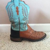 Blue Lucchese Cowgirl Boots Photo