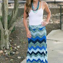 Blue Missoni Print Maxi Skirt Small Photo