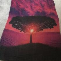Blue Pacific Nwt Raspberry Cashmere/silk Tree of Life Gorgeous Soft Large Scarf  Photo