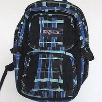 Blue Plaid Jansport Backpack Photo