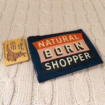 Blue Q Coin Purse Natural Born Shopper Credit Cards Mini Wallet Gift Nwt Exact Photo