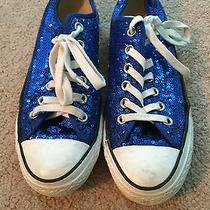 Blue Sequin Converse Photo