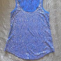 Blue Sequin/lace Tank Photo