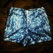 Blue Sequin Shorts Photo