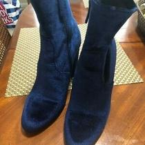 Blue Steve Madden Block Healed Boots Size 7 Preowned Great for Fall Photo