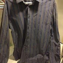 Blue Striped Fitted Express Shirt- 16-16 1/2 Photo