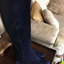 Blue Suede Stuart Weitzman Wedge Boots Sz 9 Photo