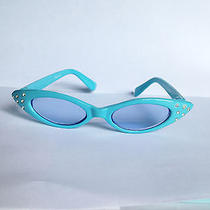Blue Super Spy Cat Eye Pin Up Girls Sunglasses Toddler Child Kids New Shades Photo