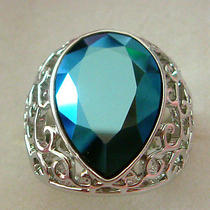 Blue Swarovski Crystal Ring  Photo