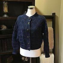 Blue  Sweater by Compagnie Internationale Express Size M Photo