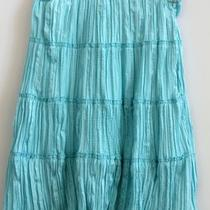Blue Tiered Below Knee Length Peasant Skirt (Xs/s) Photo