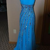 Blue Tiffany Prom Gown Photo