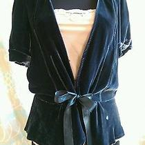 Blue Velvet Cardigan by Kimchi & Blue - Anthropologie Photo