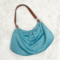 Blue Vintage Kate Spade Shoulder Bag Purse Tote Signature Noel Dots Hobo Photo