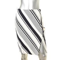 Blush 0471 Womens White Pattern Knee-Length Pencil Skirt M Bhfo Photo