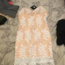 Blush Apricot Dress Lace Size 8 Photo