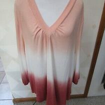 Blush & Bloom-Navy/white-Tie Dye-Long Sleeve-Mock Neck-Sweater-Size-M-Nwt-48 Photo