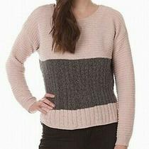 Blush & Bloom Women's Sweater Pink Size Xl Boat Neck Colorblocked 44- 196 Photo