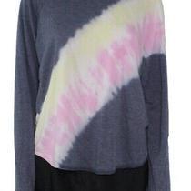 Blush & Bloom Womens Sweatshirt Blue Size Medium M Tie-Dye Crewneck 36 708 Photo