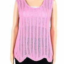 Blush & Bloom Womens Top Classic Light Pink Size Large L Tank Open Knit 38- 182 Photo