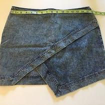 Blush Boutique Women's Asymmetrical Jeans Skirt Zipper Size M Medium Photo