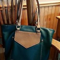 Blush Brand Aqua/tan Color Tote Handbag Photo