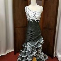 Blush Brand Black White Prom Dance or Seniorita Halloween Costume Photo