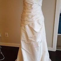 Blush Bridal Brand Strapless White Wedding Gown Ball Gown 16 Corset Back White Photo