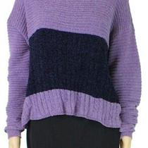 Blush & Broom Women's Sweater Purple Size Large L Colorblock Pullover 44 811 Photo