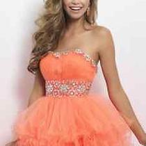 Blush by Alexa Prom Dress/ Style 9664 / Tangelo Color / Size 2 Photo