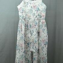 Blush by Us Angels Floral Print Chiffon Romper Big Girl's Size 14 Multi-Color Photo