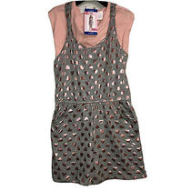 Blush by Us Angels Girl Large 14/16 Grey Pink 2 Piece Romper T-Shirt Set Nwt Photo