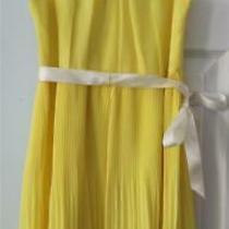 Blush by Us Angels Girls Party Dress Lemon Pleated Chiffon Sleeveless Size 10 Photo