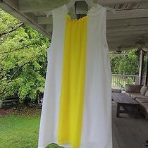 Blush by Us Angels Girls Size 12 Retro 60's Dress White Yellow Stripe No Belt Photo